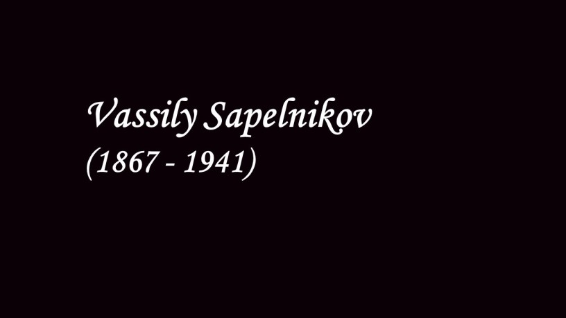 [1927] Vassily Sapelnikov plays – Berceuse (Op.57) – Chopin