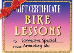 Gift Certificate for Bike Lessons in NYC