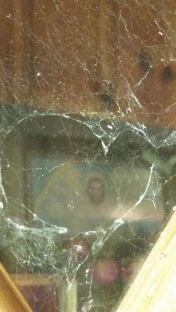 Heart shape cobweb with Jesus in the Pic (2)