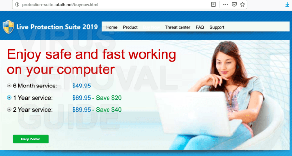 Live Protection Suite 2019 adware