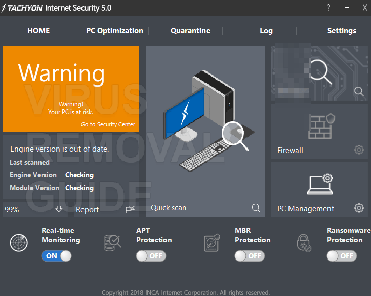 Tachyon Internet Security 5.0 adware