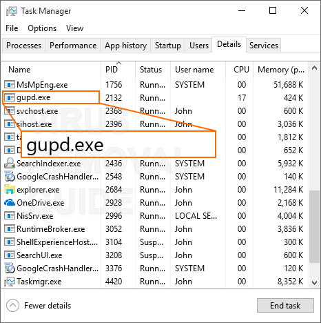Gupd.exe adware