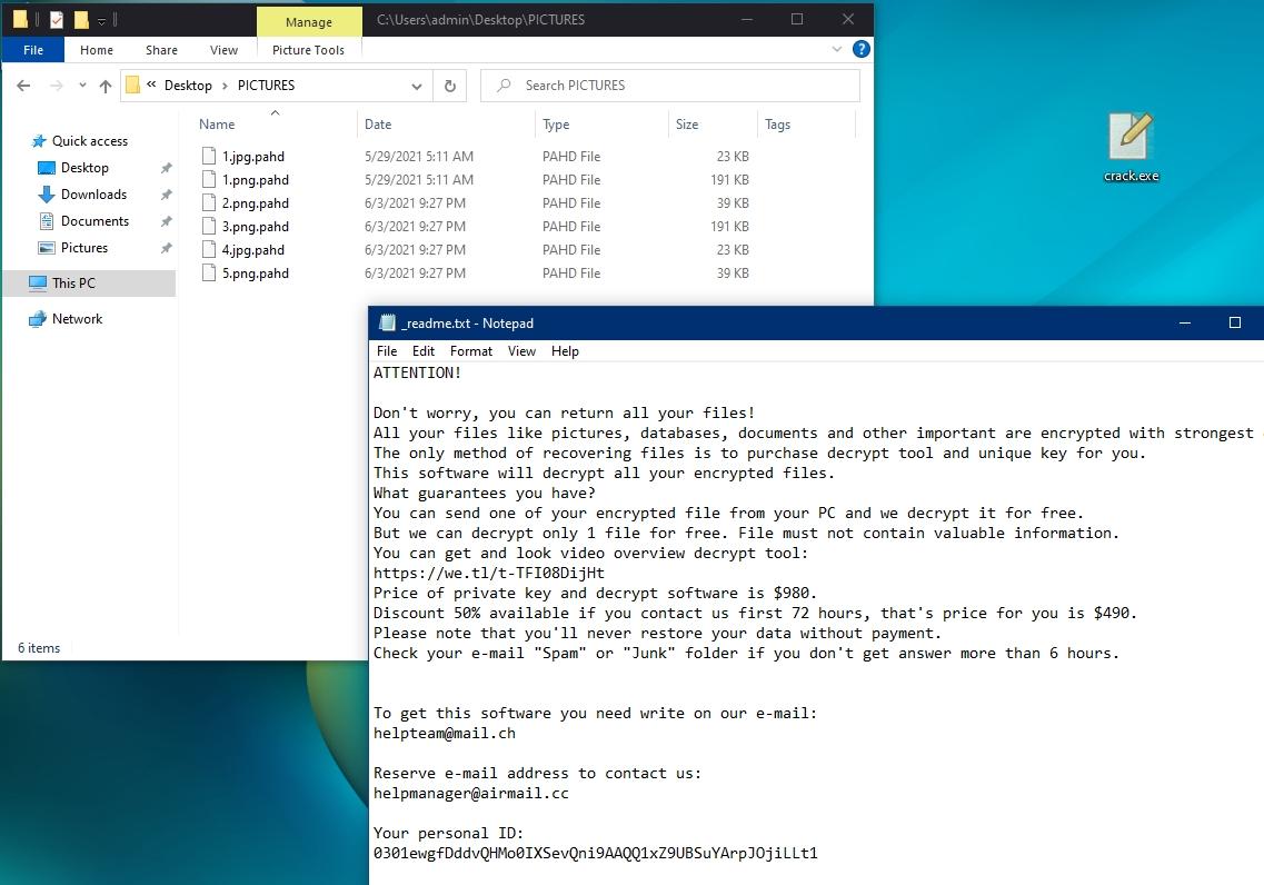 PAHD Virus Ransomware