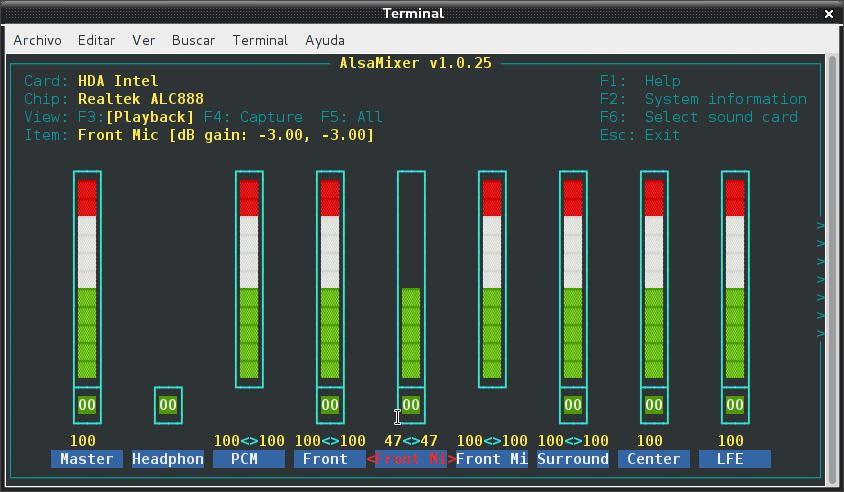 Resolver problemas de audio en debian Wheezy con Intel Corporation NM10/ICH7 (3/3)