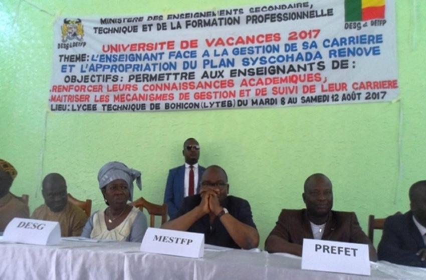 Enseignement secondaire: Le ministre Lucien Kokou lance l'université de vacances 2017 à Bohicon