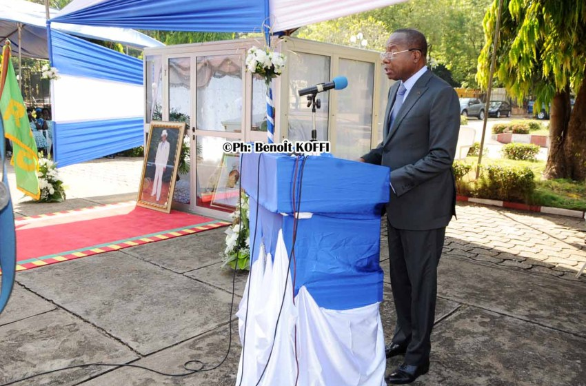 Discours d'hommage du Président de l'Assemblée Nationale à  Feu Bâtonnier Joseph ADJIGNON KEKE : «  Il est notre aîné à tous points de vue »