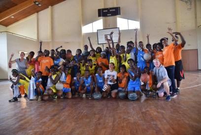 Photo de famille-Camp de basketball