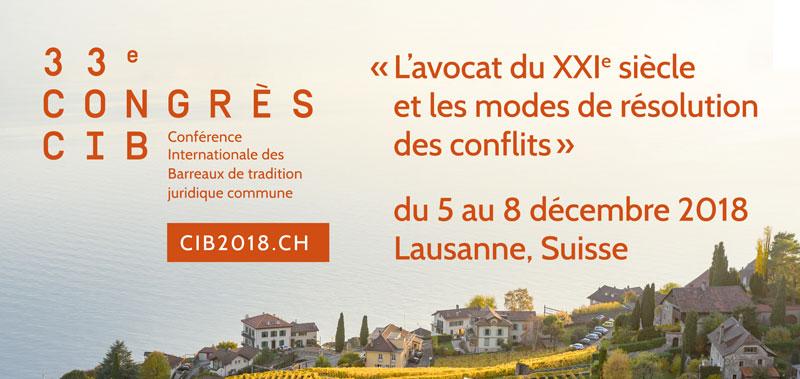 En prélude à la CIB, le CIFAF organise une session de formation continue à Lausanne