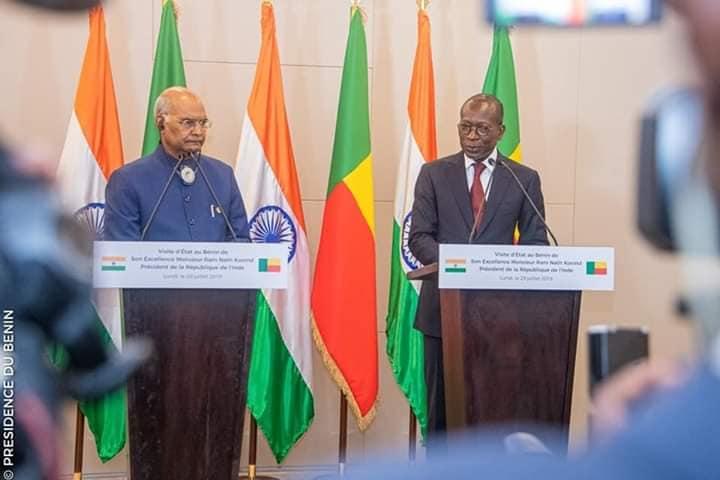 Communiqué conjoint à l'issu du tête-à-tête entre les Présidents Patrice TALON et Ram Nath KOVIND