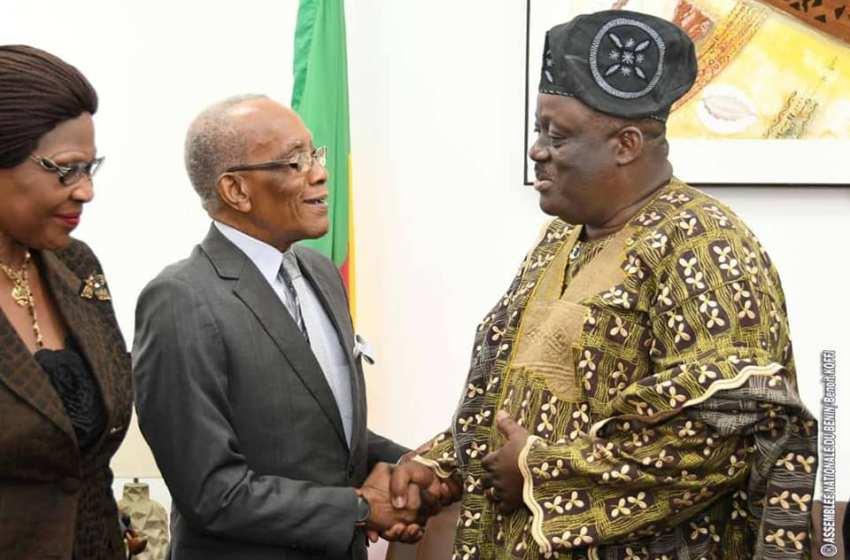 Assemblée nationale: Le Président Vlavonou reçoit les Ambassadeurs et Ministres plénipotentiaires retraités du Bénin