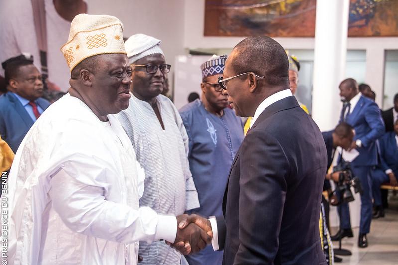 Vœux au Chef de l'Etat : Le Président Louis G. Vlavonou fait le point de la contribution des Institutions à la reconstruction du Bénin