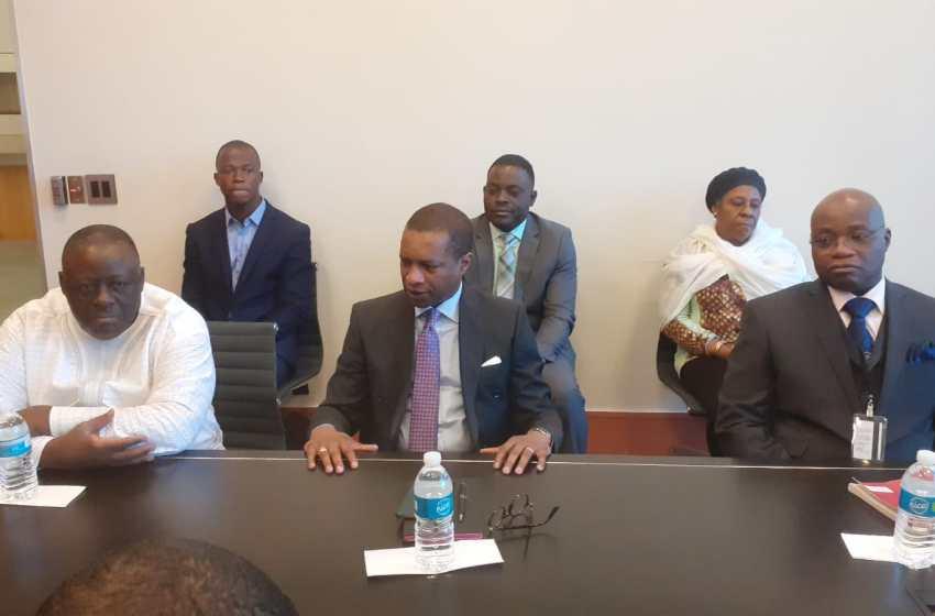 Mission diplomatique permanente du Bénin près les Nations-Unies à New-York:Louis G. Vlavonou échange avec le personnel en poste