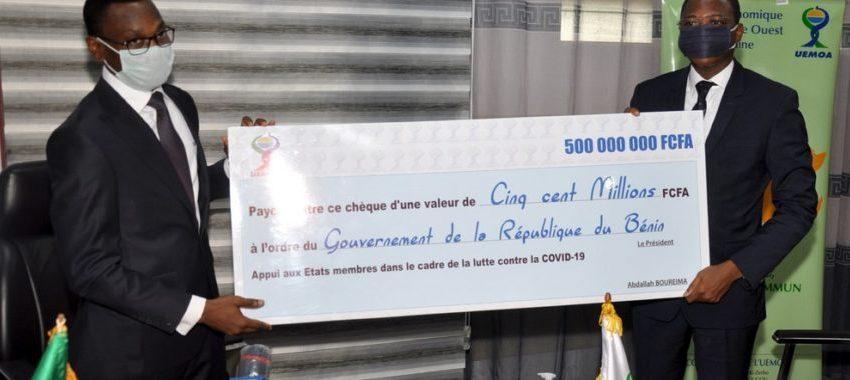 Lutte contre la Covid-19 au Bénin: L'Uemoa vient en appui avec un don de 1 171 965 598 F Cfa
