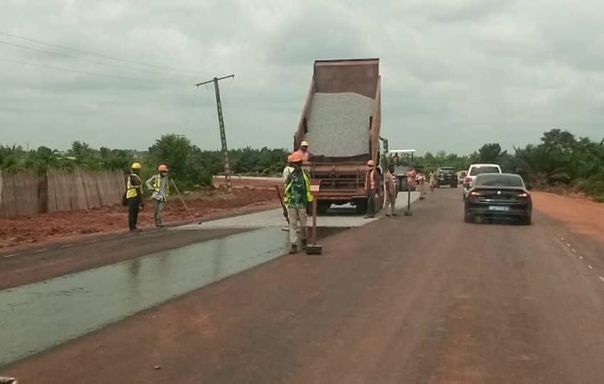 Chantier routier Lokossa-Dévé-Aplahoué-Frontière du Togo: Le ministre Hervé HEHOMEY constate l'évolution des travaux