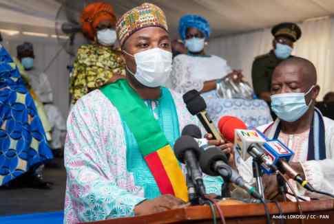 Le maire de Porto-Novo, Charlemagne Yankoty