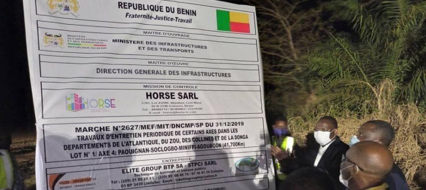 Construction d'ouvrages et entretien périodique des axes routiers: Trois grands travaux lancés dans les Collines et la Donga