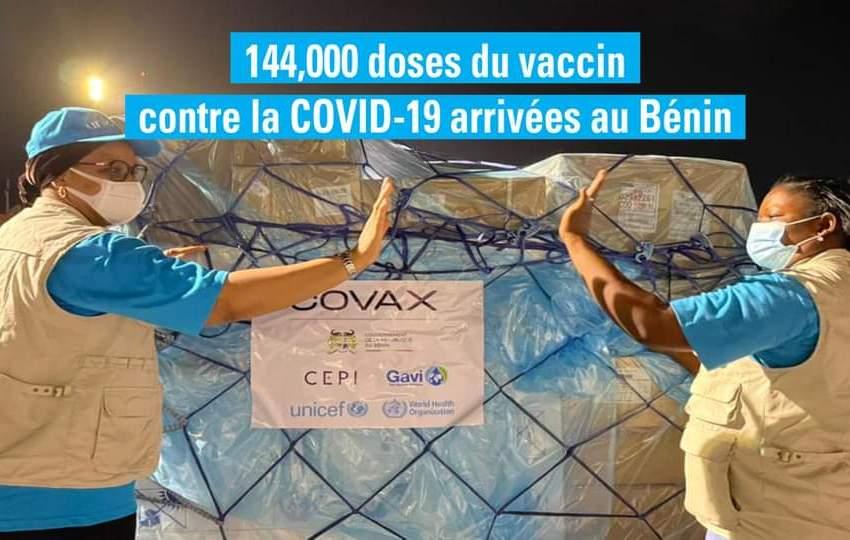 Mécanisme COVAX: Tout sur les 1ères doses de vaccins reçues par le Bénin