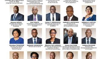 Les membres du nouveau gouvernement du Président Patrice TALON Mai 2021