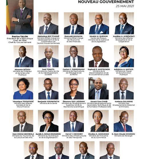 Nouveau Gouvernement du Président Talon: Des jeux de chaises , deux nouvelles entrées et sorties
