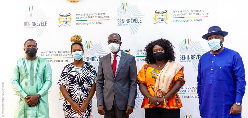 Après leur participation à la phase finale saison 3 de l'émission THE VOICE : Les Ambassadeurs béninois reçus par le Ministre de la Culture