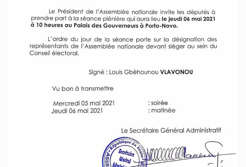 Fin prochaine de la CENA: Les députés désignent ce jeudi leurs représentants au sein du nouveau Conseil Electoral