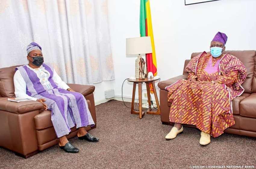 Bénin/Institutions: Le chef de file de l'Opposition et le nouveau Médiateur de la République au Cabinet du président Louis G. Vlavonou