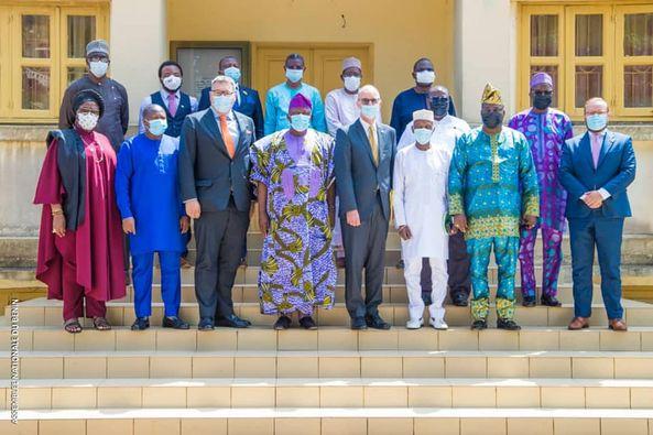 Bénin/Diplomatie parlementaire: Séance de travail entre le Président Vlavonou, le Groupe parlementaire d'amitié Bénino-Allemand et le député Stefan Keuter