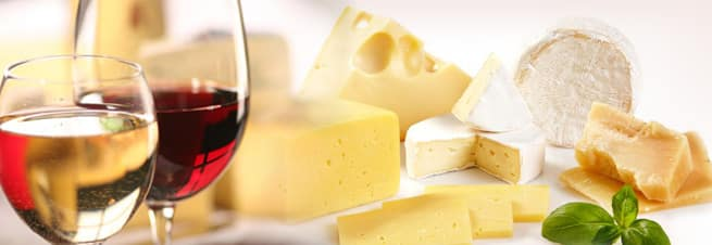 Wine and cheese image