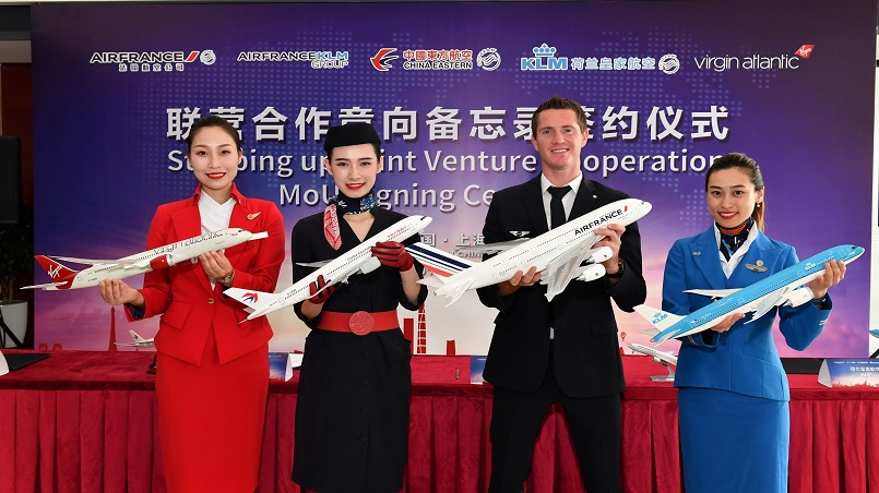 China Eastern, Virgin Atlantic, Air France and KLM