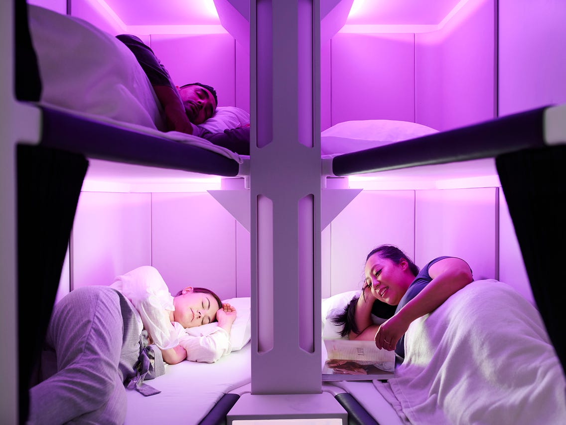 Air New Zealand has unveiled a ground-breaking new lie-flat prototype sleep product for economy class travellers.