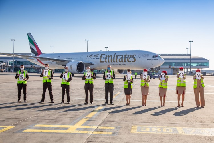Emirates' outstation airport teams from 39 stations including Prague, Newark, Seoul, London Stansted and Zurich devotedly sent of their last passenger flights before the suspension took effect.