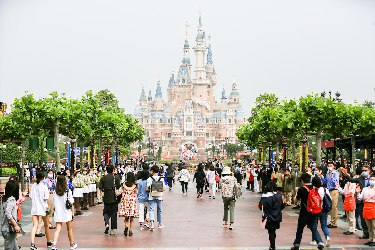 This is the first Disneyland theme park in the world that has reopened since the outbreak of the COVID-19.