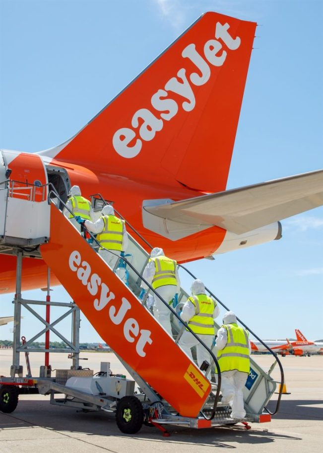 "EasyJet: ""We look forward to welcoming our customers back onboard in June."""