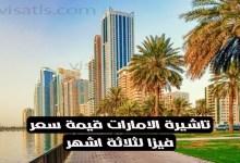 سعر تاشيرة الامارات 3 شهور للعرب