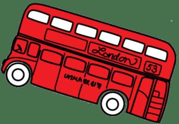 Двухэтажный красный автобус в Лондоне visasuk.ru