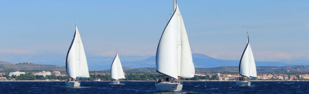 Sailing near Vodice