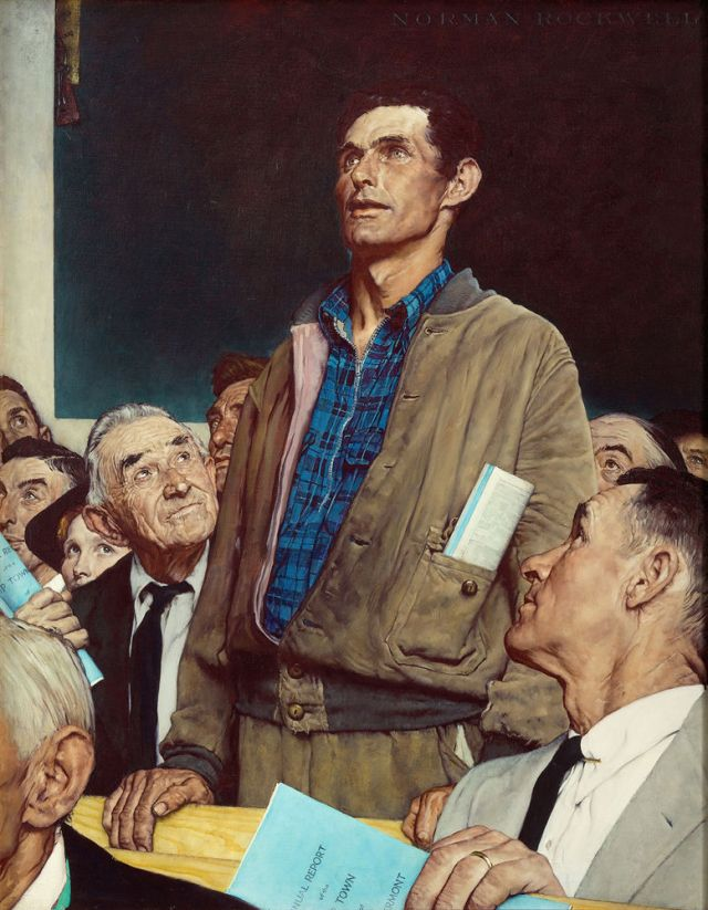 Norman Rockwell - Freedom of Speech