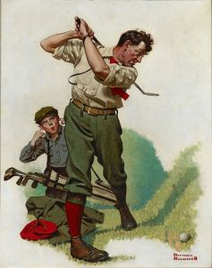 Norman Rockwell - The Golfer