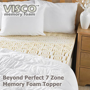 Beyond Perfect 7 Zone Memory Foam Mattress Topper