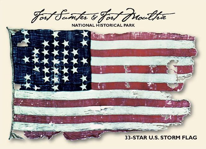 Thirty-Three Star US Storm Flag