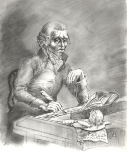 Fattig komponist - tegning
