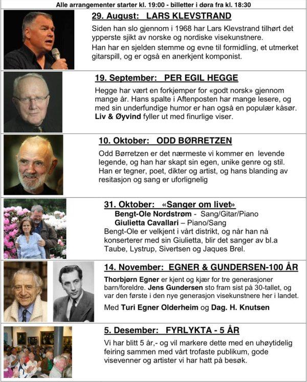 Fyrlyktas Høstprogram 2012