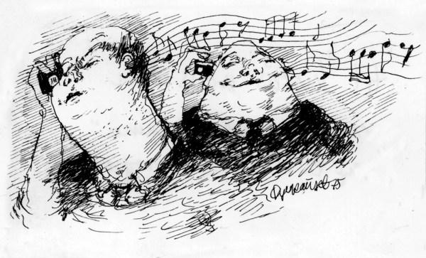 Easy Listening. Tegning: Øyvind Rauset.
