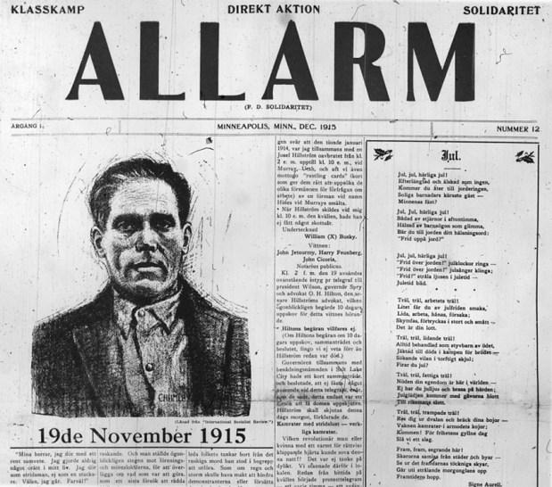 Allarm, svensspråklig tidning i USA 1915