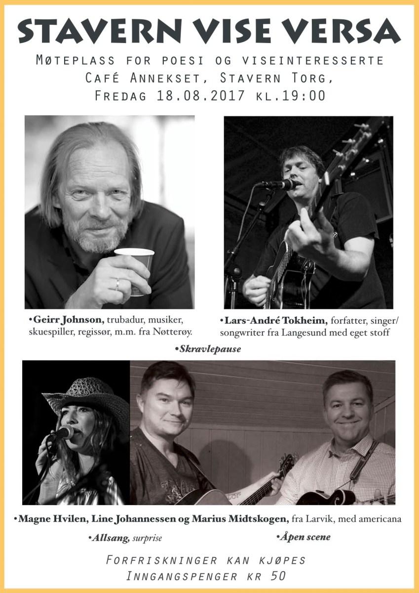 Stavern Vise Versa med første høstkonsert 2017