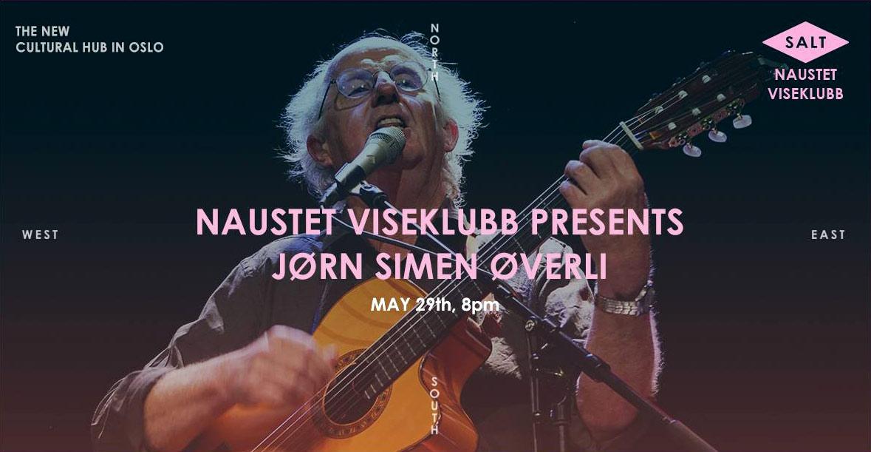 Jørn Simen Øverli på Naustet Viseklubb