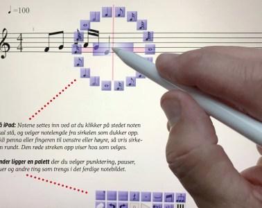 Noteskriving på skjerm