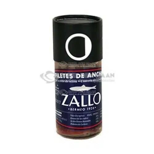 Een flesje ansjovis van het merk Zallo