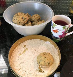 Dhokri dough with Methi leaves