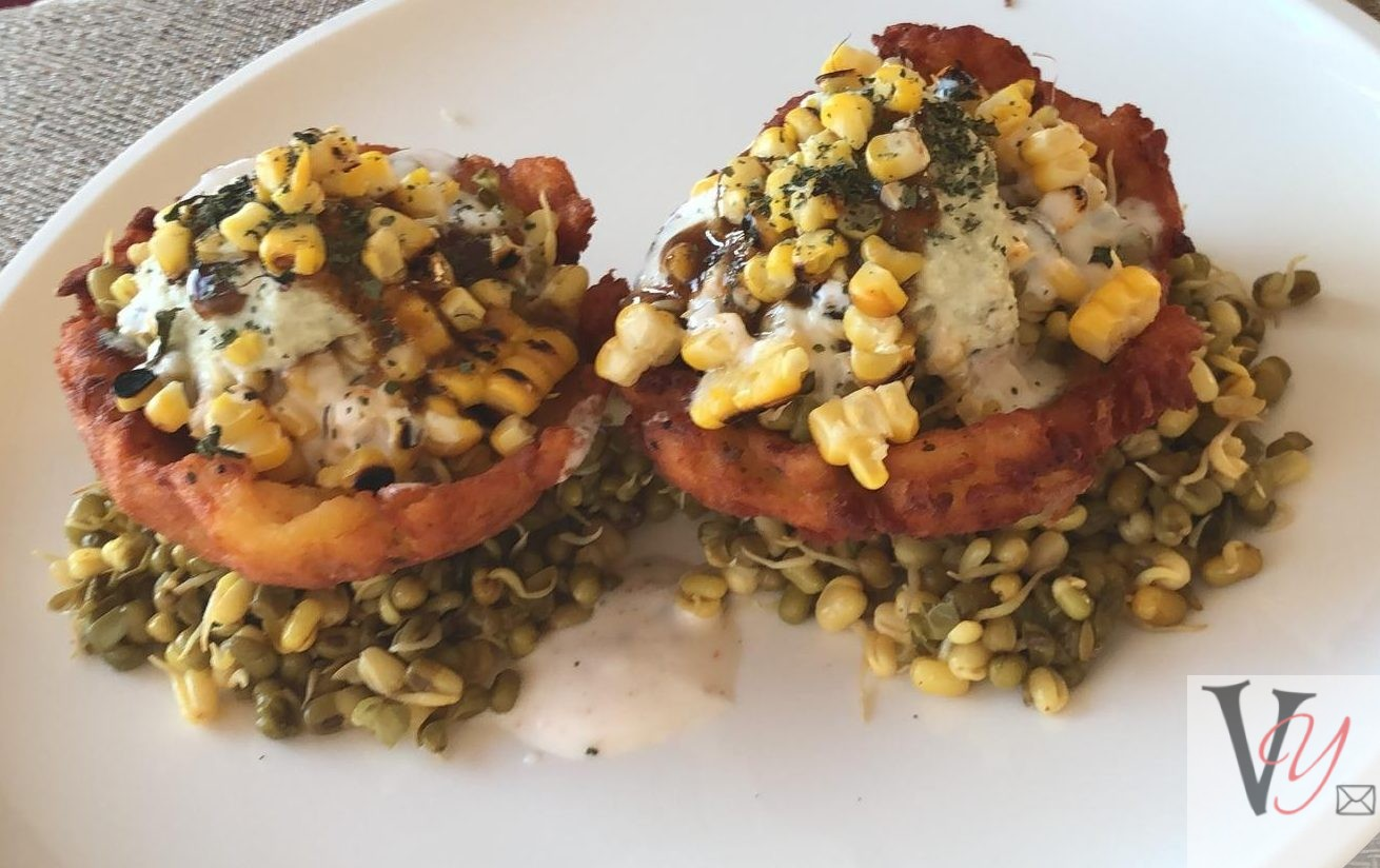 Sprouted Chaat with Rosti